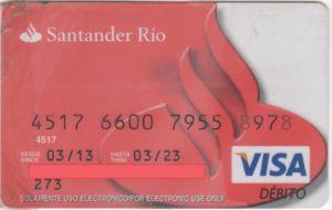 Mejores tarjetas de débito para 2021: Tarjeta Santander Río Débito
