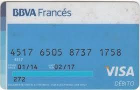 tarjeta debito bbva frances