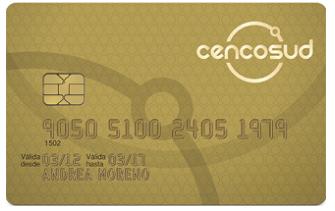 Tarjeta Cencosud Gold del Banco Cencosud del Perú
