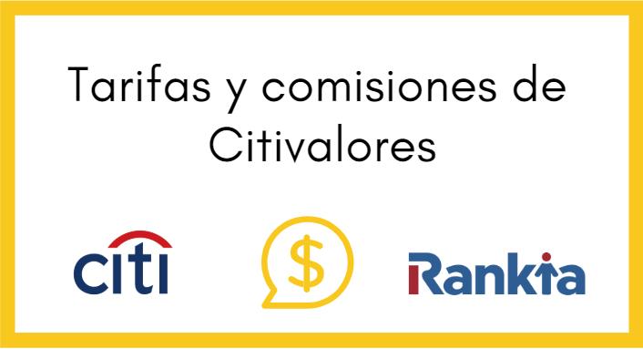 ¿Cuáles son las tarifas de Citivalores Comisionista de Bolsa?