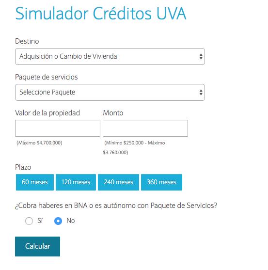 Créditos hipotecarios Banco de la Nación: simulador