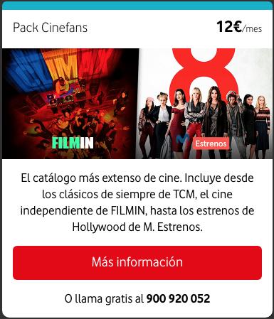 Nuevos paquetes de televisión a la carta Vodafone: Pack Cinefans