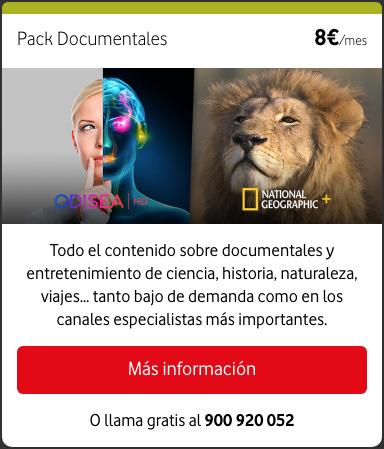 Nuevos paquetes de televisión a la carta Vodafone: Pack Documentales