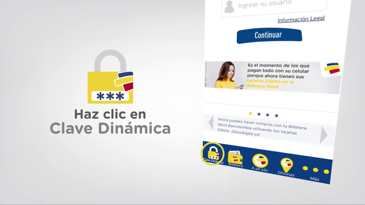 ¿Cómo obtener mi clave dinamica de Bancolombia?