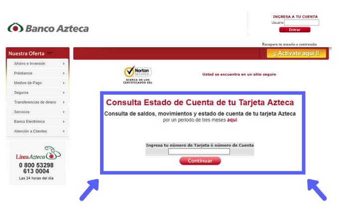 ¿Cómo consultar saldo Banco Azteca?