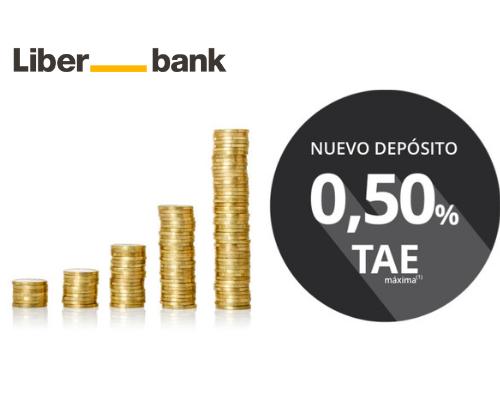 Depósito Liberbank al 0,50% TAE a 24 meses