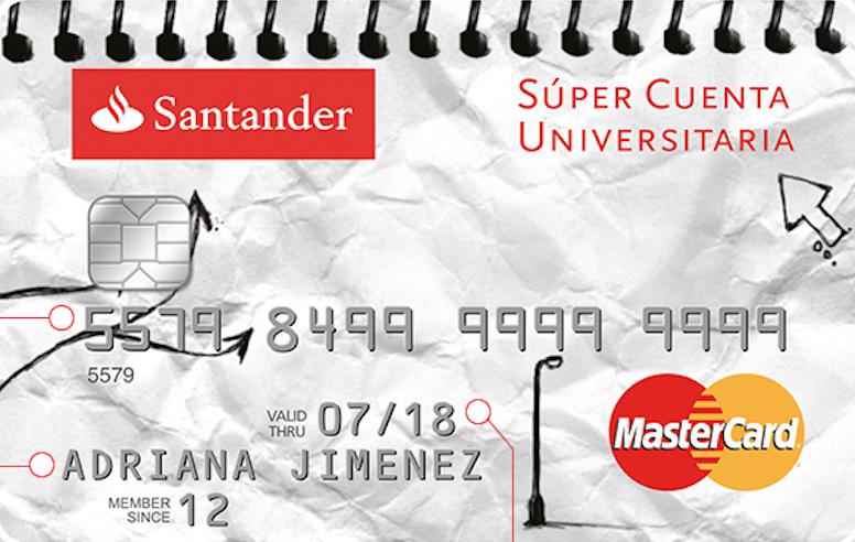 Tarjeta débito Santander:Super Cuenta Universitaria