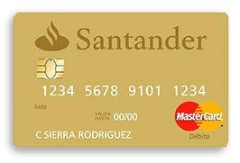 Tarjeta débito Santander:Super Nómina