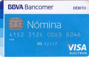 Tarjeta débito BBVA Bancomer: Tarjeta nómina básica Bancomer