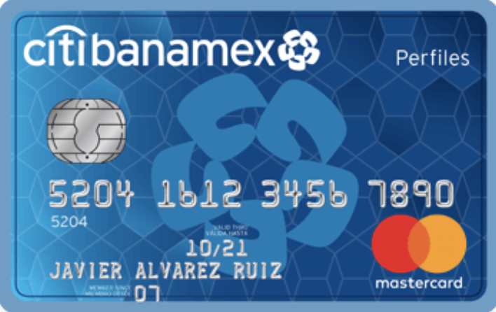 Tarjeta débito Citibanamex: Cuenta Perfiles