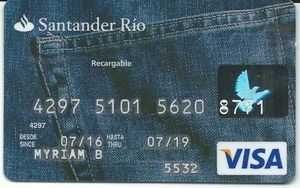 Tarjeta Recargable Santander Rio