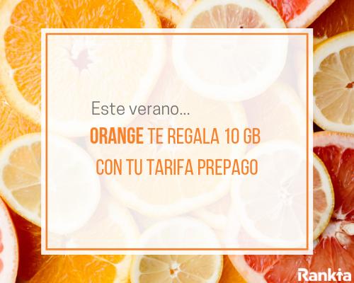 Orange te regala 10 GB con tu tarifa prepago