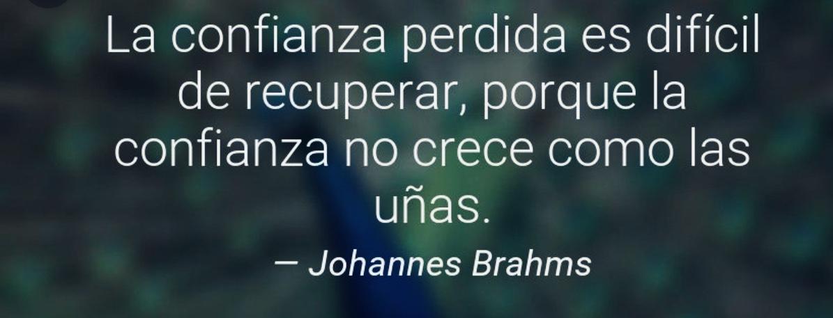 frase confianza Brahms