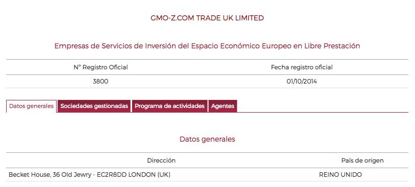GMO Z.Com Trade UK Limited