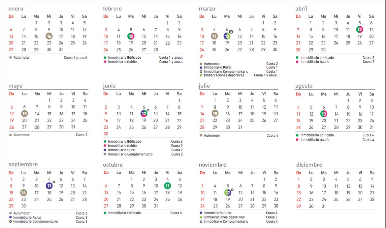 Calendario ARBA para Imprimir