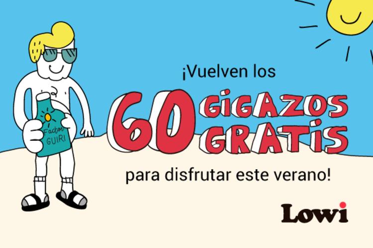 Promoción verano Lowi: 60 GB gratis