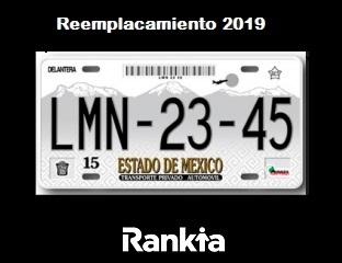 Reemplacamiento gratis en el Estado de México