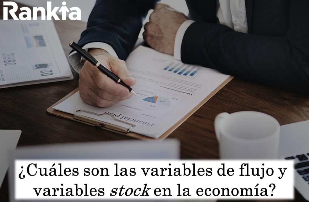 ¿Cuáles son las variables de flujo y variables stock en la economía?