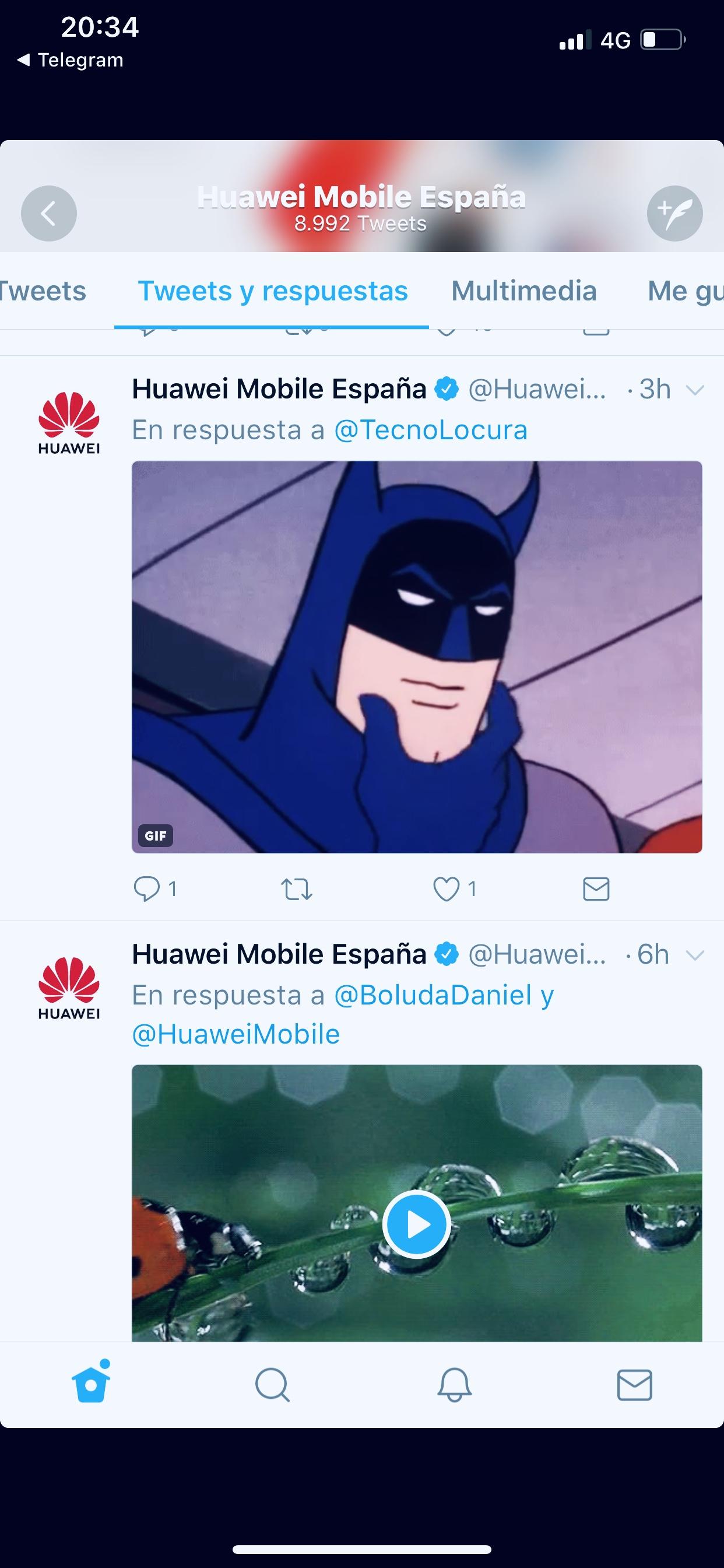 borrado de tweets huawei