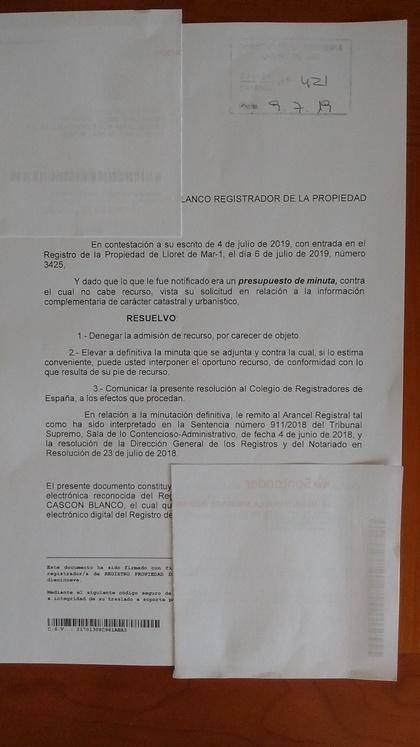 Resolución a 1ª Impugnación