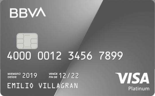 Tarjeta de crédito BBVA Bancomer platinum