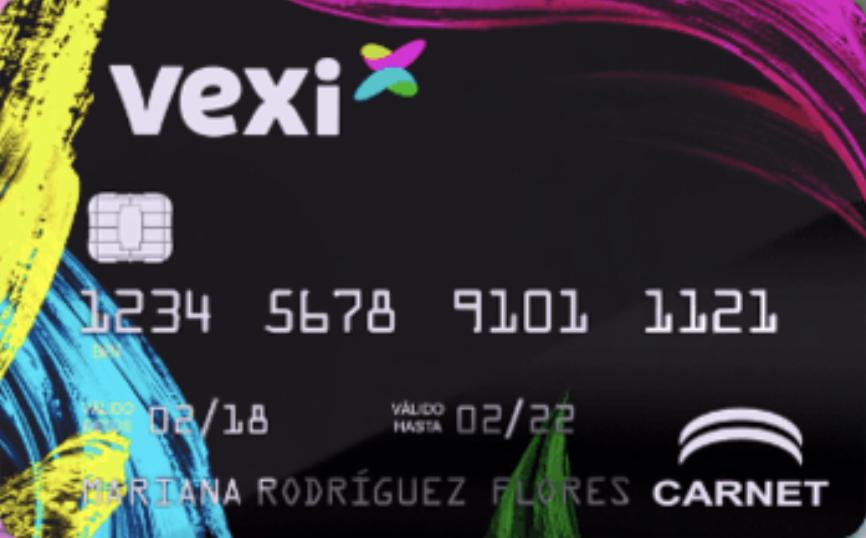 Tarjeta de crédito Vexi