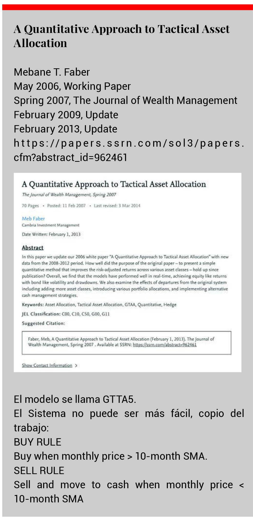 tactical asset allocation