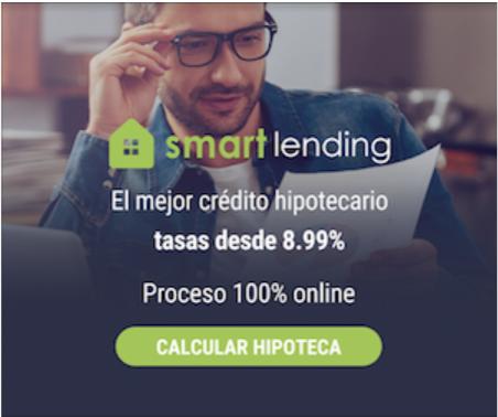 Mejor crédito hipotecario: Hipoteca Smart lending pago fijo