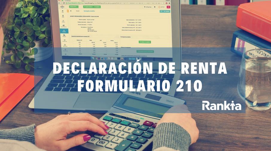 ¿Cómo presentar mi declaración de renta 2019? Formulario 210