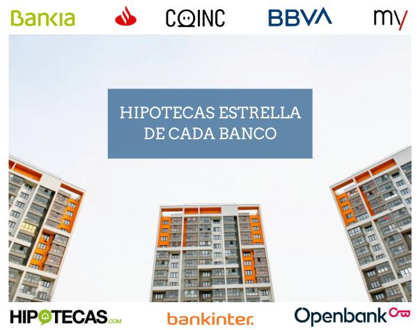 Hipotecas estrella de cada banco: coinc, Bankinter, Santander...