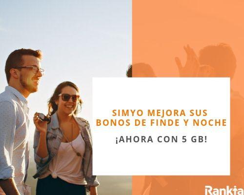 Simyo: Mejora sus bonos de datos de finde y noche