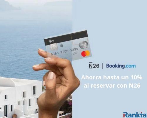 N26 x Booking: Hasta 10% de reembolso