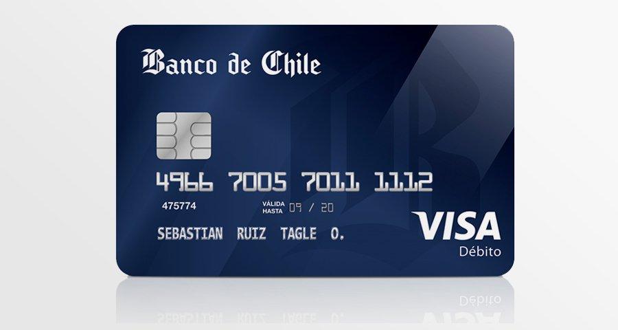 Tarjeta Débito Visa Banco de Chile: activar, requisitos y comisiones