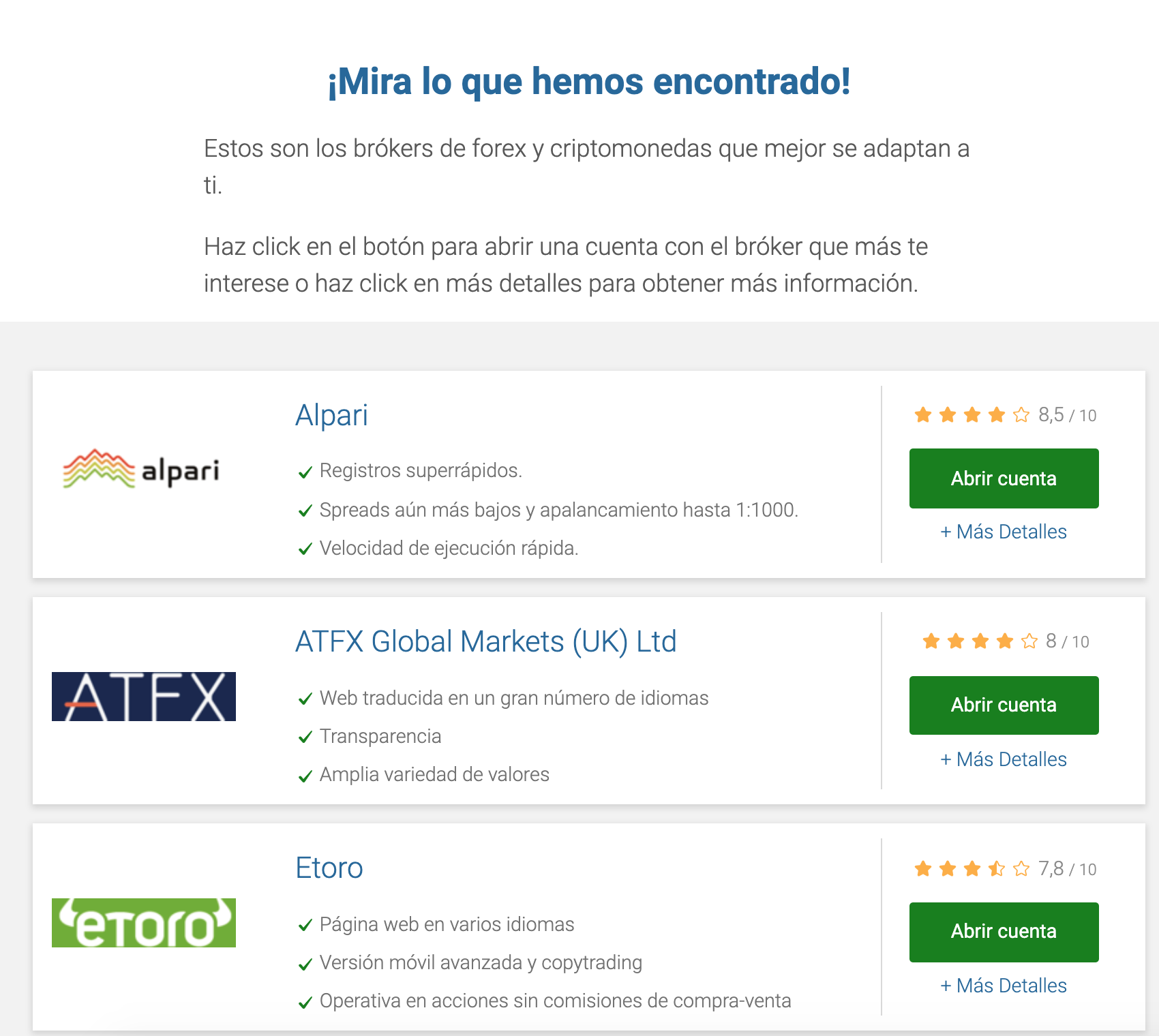 Mejores brokers Colombia 2019: Simulador de brokers