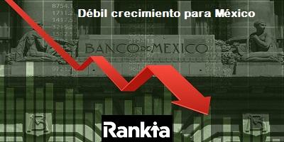 Baja el crecimiento de México