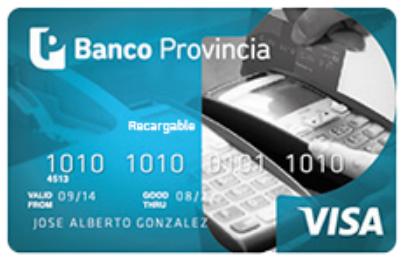 Tarjeta Visa Recargable Banco Provincia