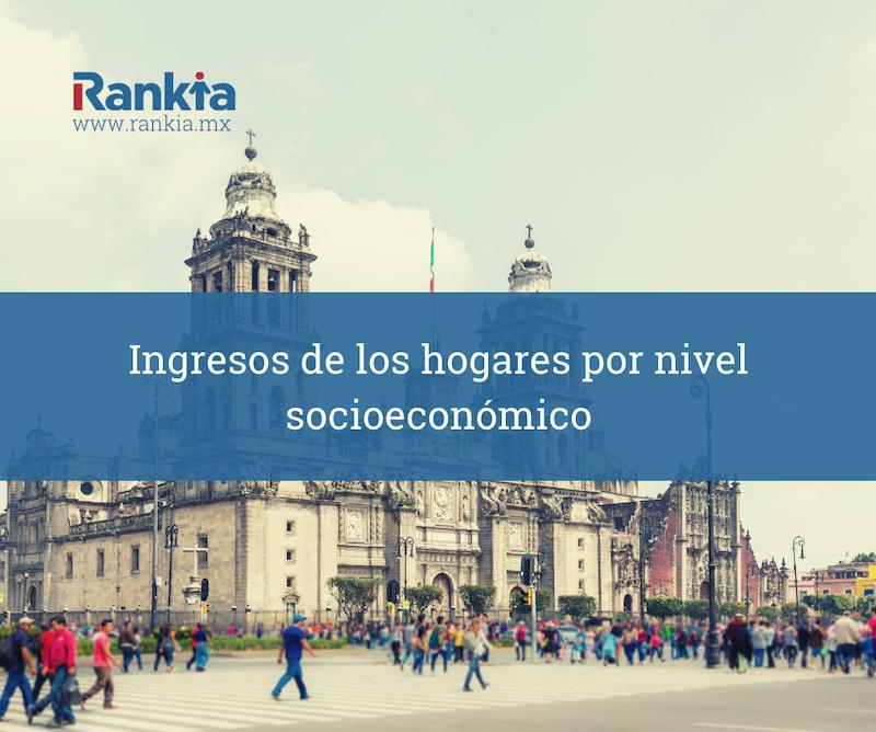 Ingresos de los hogares por nivel socioeconómico