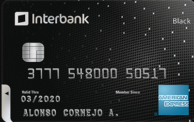 Tarjeta American Express Black Interbank