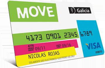 Galicia Move: qué es, beneficios, costos y tarjeta