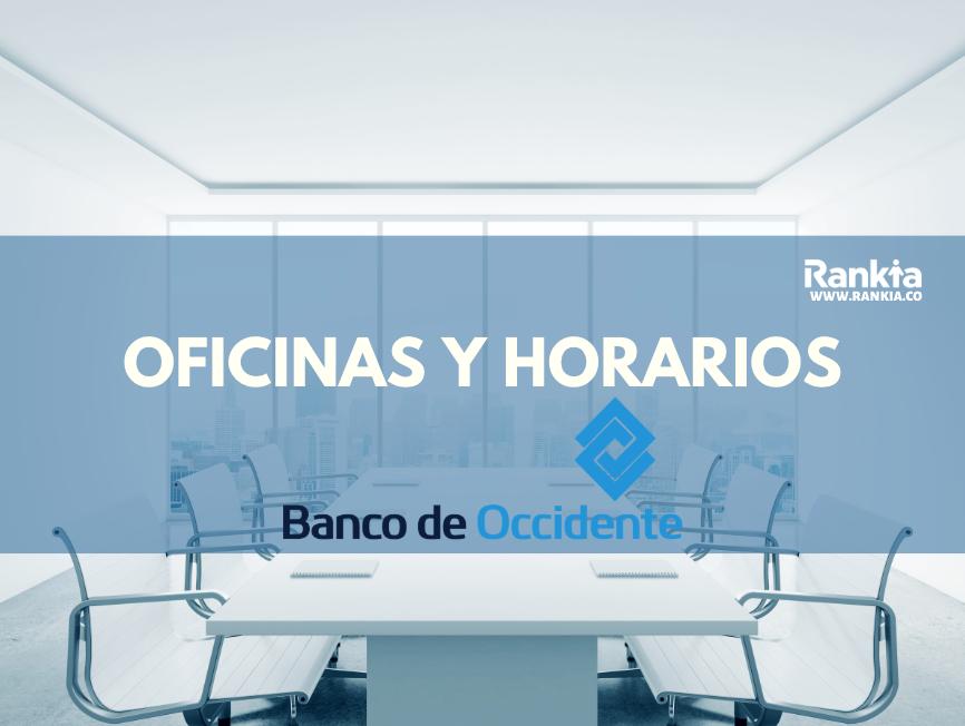 Oficinas y horarios de Banco de Occidente para sábados en Bogotá