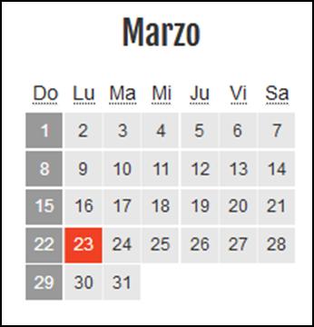 Calendario laboral Colombia: Marzo 2020