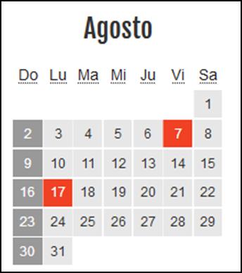 Calendario laboral Colombia: Agosto 2020