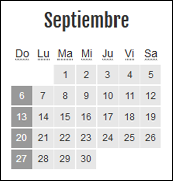 Calendario laboral Colombia: Septiembre 2020