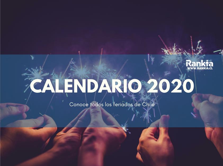 Calendario 2020 Chile con feriados