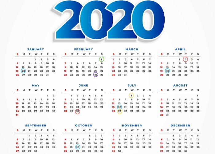 calendario fiscal autónomos y pymes 2020