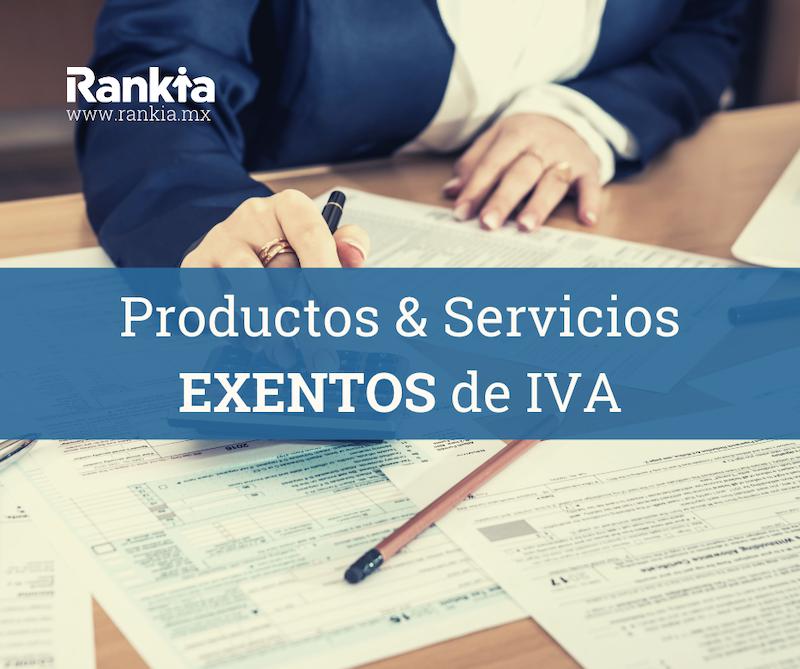 Servicios y productos exentos de iva