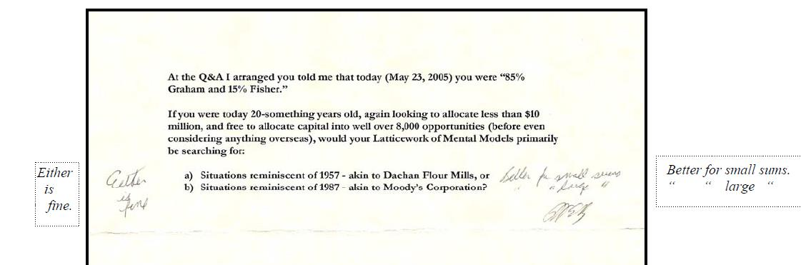 Carta Warren Buffet