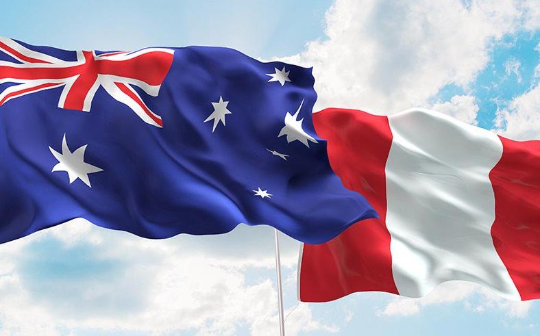 Perú comienza intercambio comercial con Australia