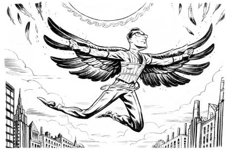Imagen hombre pájaro