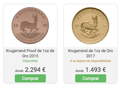 Comparativa monedas de oro proof frente a bullion
